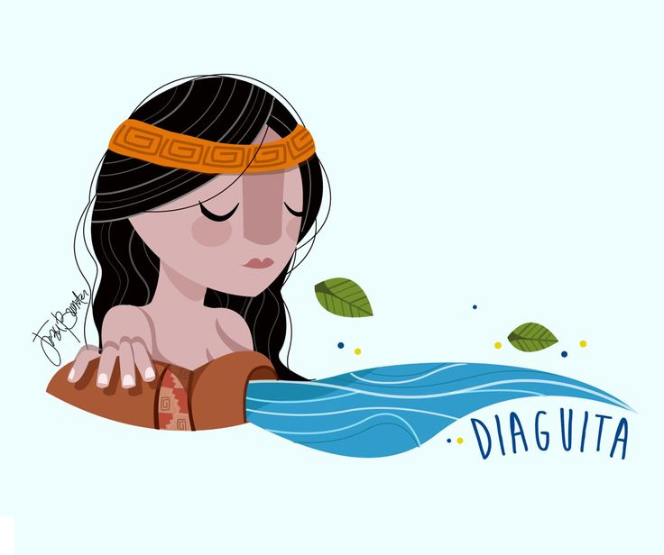 "Jezu Bunster Illustrations & Design  ""Mujer Indígena"" - DIAGUITA WOMAN-"