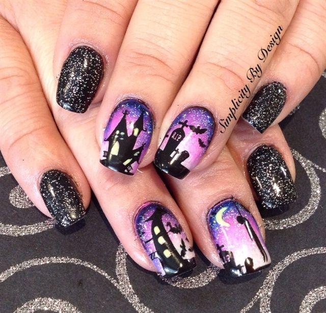 585 best Halloween Nail Art images on Pinterest