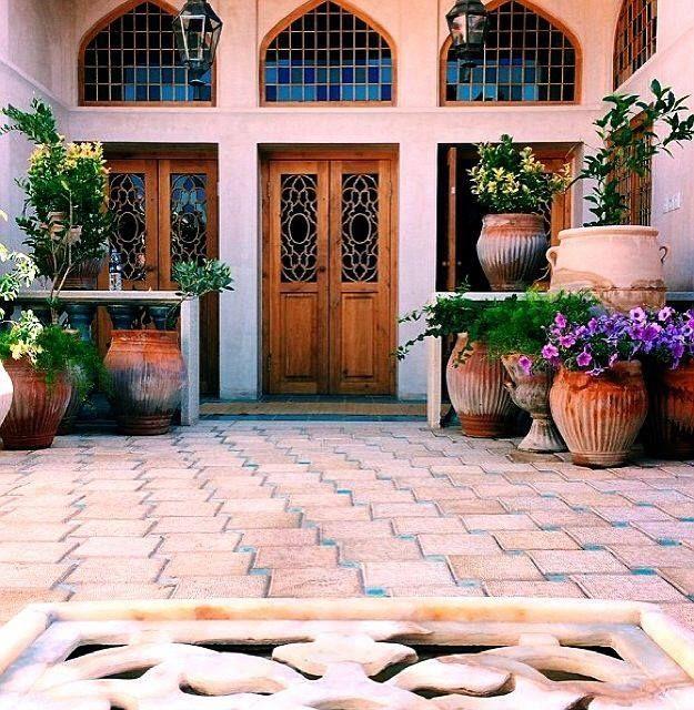 Courtyard. Persian House