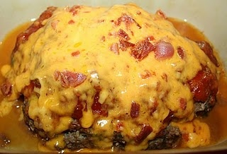 I made & blogged BBQ Bacon Stuffed Meat Loaf from Pampered Chef's Deep Covered Baker recip book. Another success! YUM