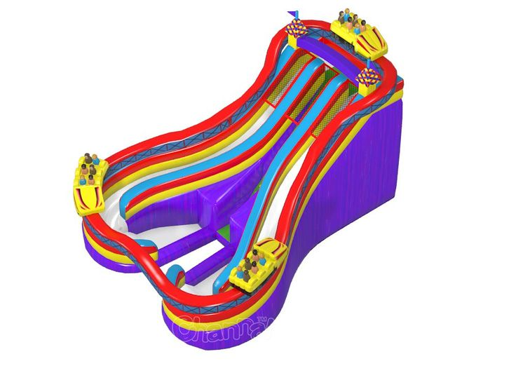Best Backyard Inflatable Water Slides Part - 22: Amusement Park Roller Coaster Inflatable Water Slide With Dual Slide Lanes,  Cheap But Best Quality You Can Get In Contact Us For A Sale Price.