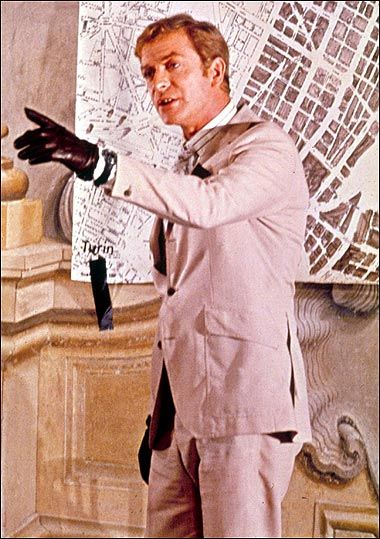 The Italian Job (1969) Michael Caine: Now here's one with birds, and me being charming. I love this. I got to drive cars and boss blokes around. (original blog comment)