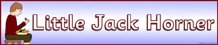 Little Jack Horner display banner (SB8961) - SparkleBox