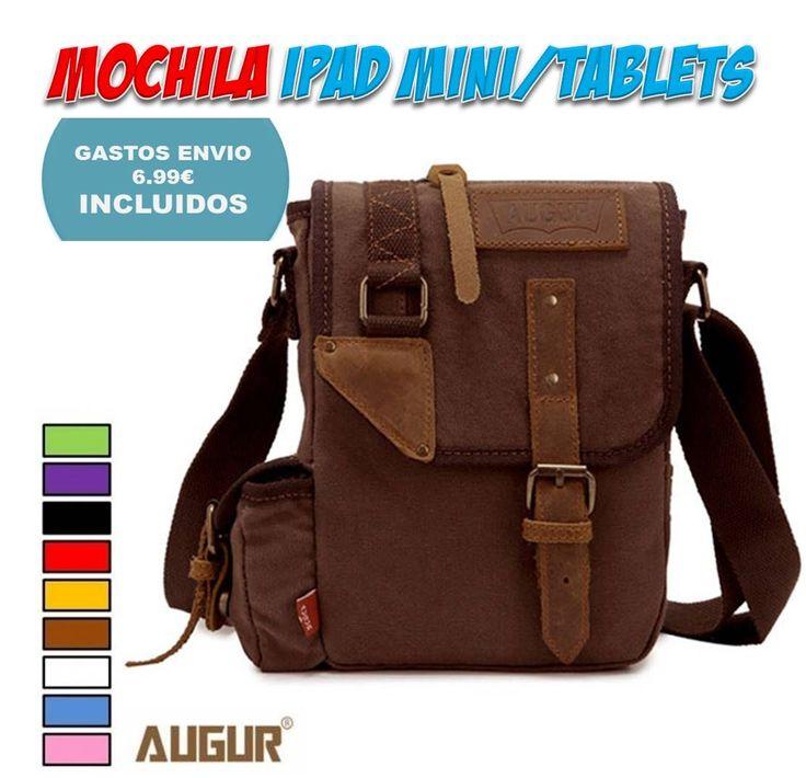 Comprar online en tienda de complementos de moda para hombre, bolsos, mochilas, bandoleras y maletines para llevar el iPad Mini o pequeñas tablets colgadas...