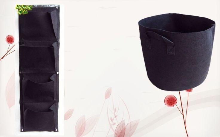 4 слоя карманные вертикальные зеленая стена горшки мешок картошки вертикальный сад плантатор висячие цветок сумки DIY крытый украшения сада купить на AliExpress