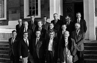 June 1969; Members of Tralee UDC pose for the camera outside the Ashe Memorial Hall in Tralee. Included in the photo are Noel O'Connor, Michael O'Regan, Arthur J O'Leary, Eugie Creagh, Eugene Powell, Jack Lawlor, John Blennerhassett, Dan Spring, John Charles Hoare and Michael Scannell.