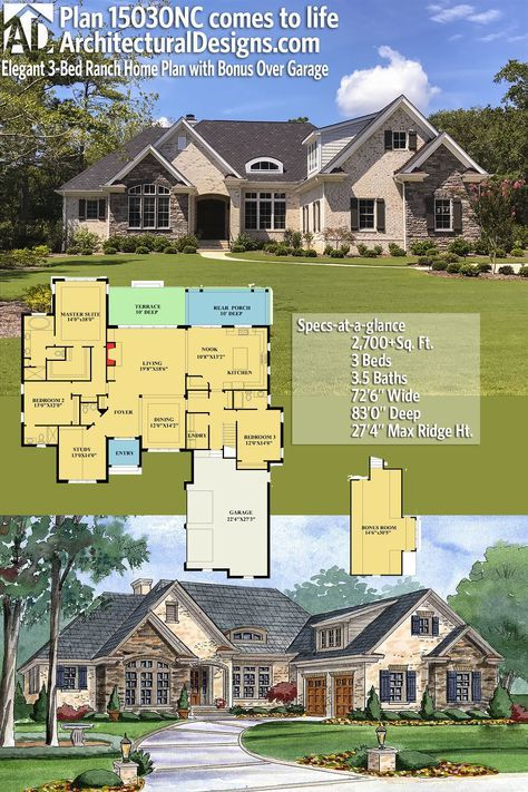 architectural designs house plan 15030nc comes to life this elegant rh pinterest com