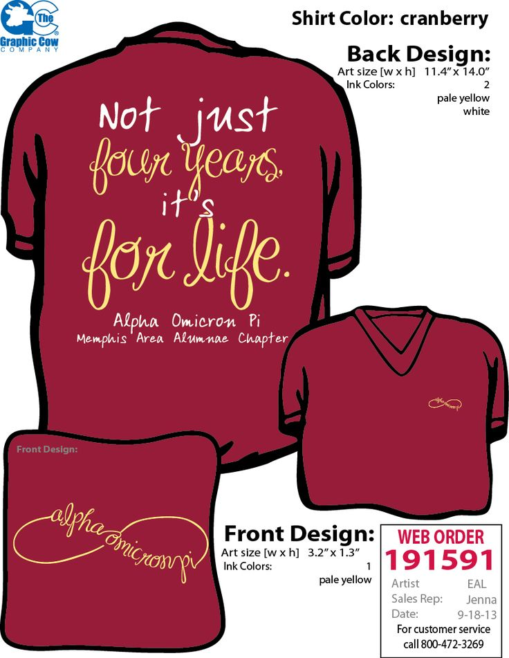 AOII Memphis Area Alumnae Chapter shirts!