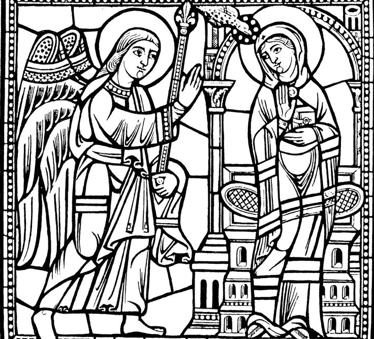 Free coloring page coloring-difficult-vitrail. Beautiful reproduction of a stained glass in a church, in black and white with thick lines. Relatively low complexity, but the result should be wonderful !
