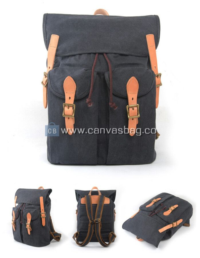 School Backpacks | Genuine Leather Canvas Bag Wholesale