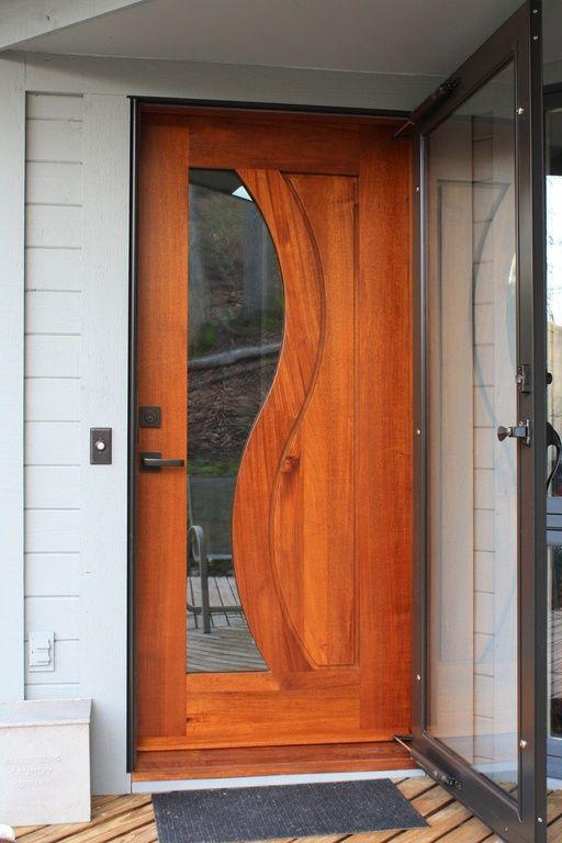 Modern front door with french doors glass panel door - Wooden double glazed french doors exterior ...