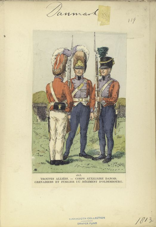 Denmark; Danish Auxilary Corps, Regiment d'Oldenberg, Grenadiers & Fusilier 1813