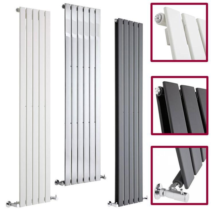 Vertical Central Heating Flat Panel Designer Radiators Tall Upright Columns