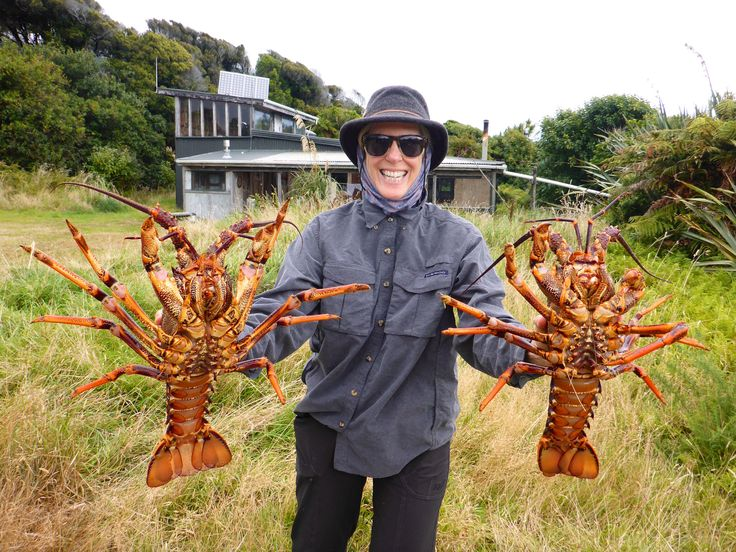 Nancy is happy we came through with goods for dinner. www.southernriversflyfishing.co.nz