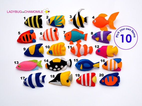 Coral FISHES felt magnets, Coral reef fishes, Tropical fishes,angelfishes, moorish idol, Tangs, Clownfish, Parrotfish, Triggerfish, goldfish