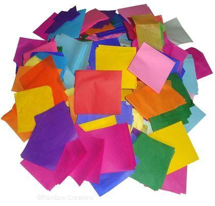 Rainbow Creations Tissue Paper Scraps