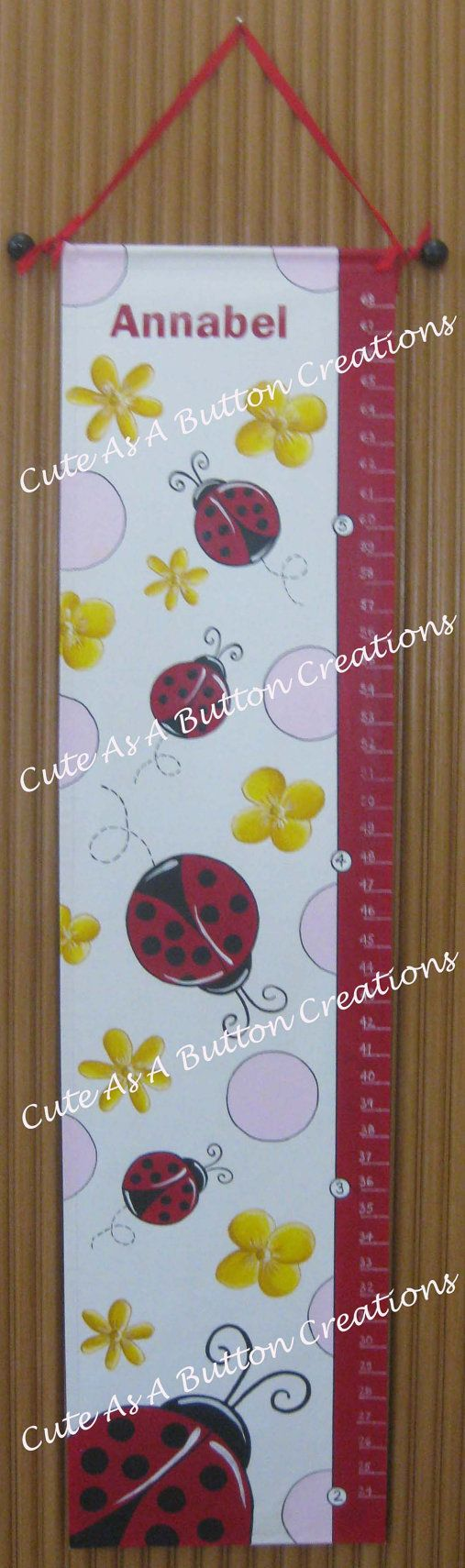 72 best growth chart images on pinterest child room babies rooms ladybug growth chart geenschuldenfo Image collections