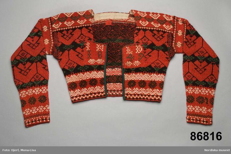 Stickad tröja från Delsbo, Hälsingland, Sverige.