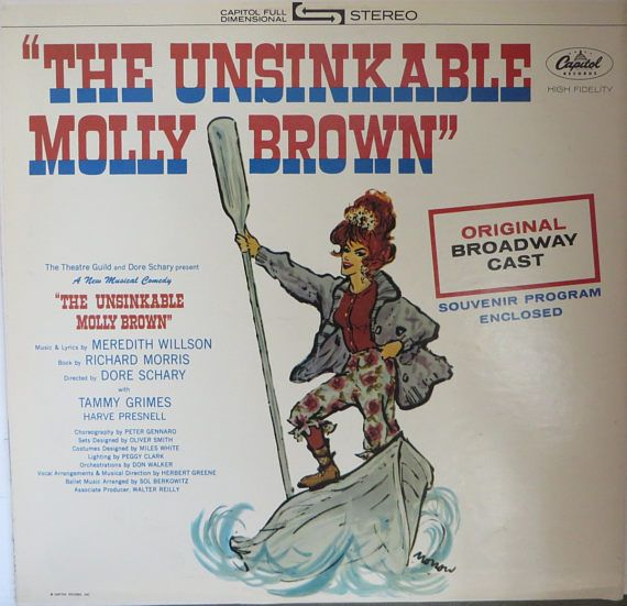 Vintage Vinyl LP Unsinkable Molly Brown Original Broadway