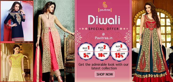 Diwali Festival and Wedding Season Special Latest Designer Bridal Anarkali Suits and Dresses Kameez Catalogs Online Collection with Discount Offer Deasl Prices 2015 and 2016 at Pavitraa