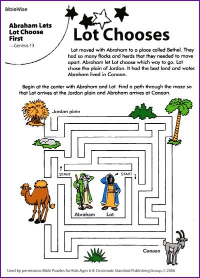 Abraham Lets Lot Choose First Maze