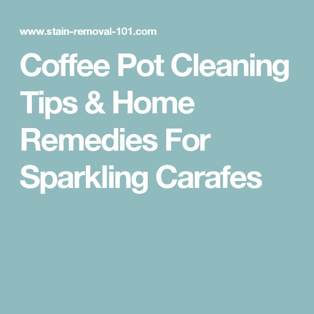 how to clean hard water stains coffee pot