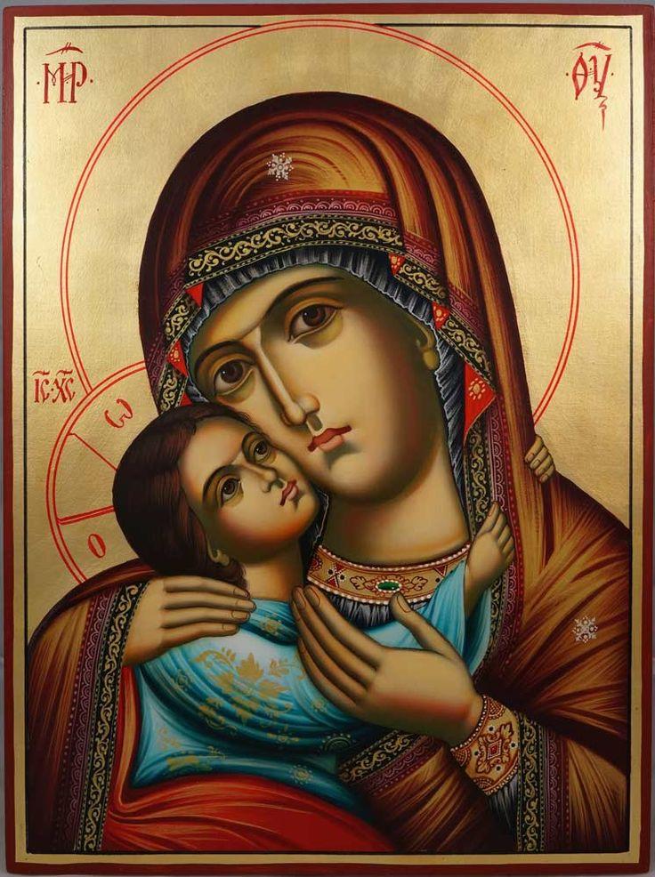 Theotokos Tenderness (Rila Monastery) Hand-Painted Bulgarian Orthodox Icon