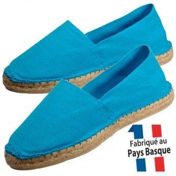 Espadrilles basques femme bleu turquoise