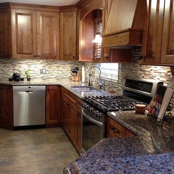 Kitchen Backsplash Granite: 50 Best Images About Granite-tile Backsplash On Pinterest