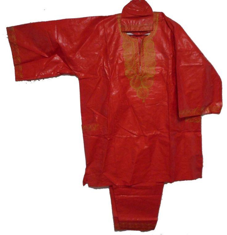 African Dashiki Traditional Men Pant Suit Ethnic Clothing Pant Set One Size Red #Handmade #DashikiPantSuit