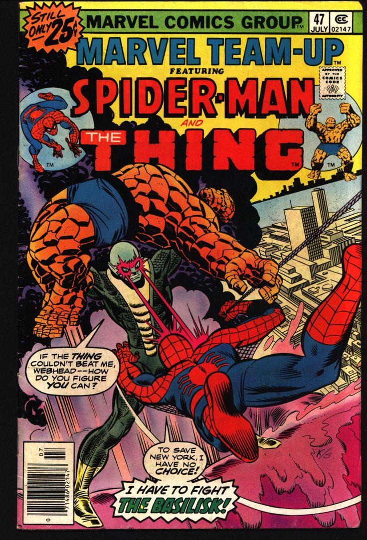 Marvel TEAM-UP Comics #47 Spiderman Fantastic Four's THING Ben Grimm Vs. Basilisk Bill Mantlo Ron Wilson
