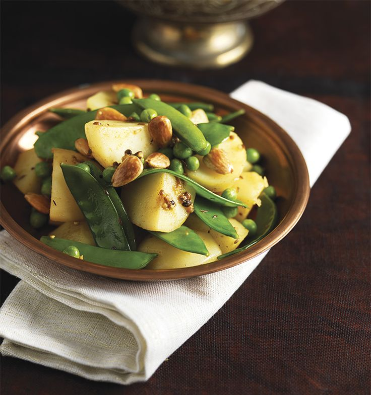 Fragrant Potatoes, Peas & Toasted Almonds