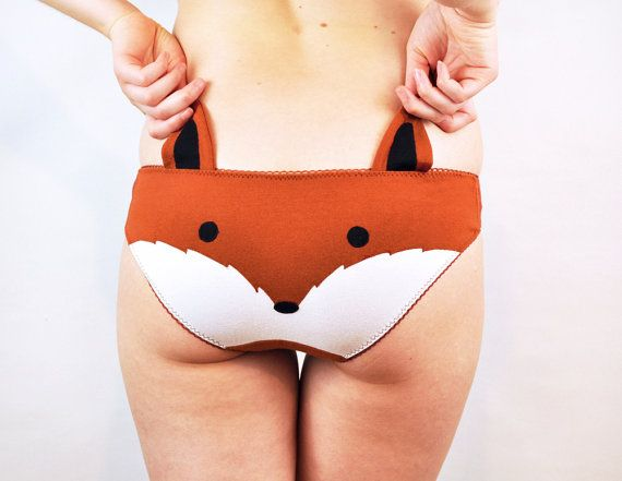 Panties with a fox face and ears lingerie underwear SUPER CUTE! and it comes with a little shirt $39