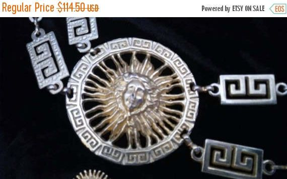 Now On Sale Vintage Medusa Belt  High End Hard by MartiniMermaid