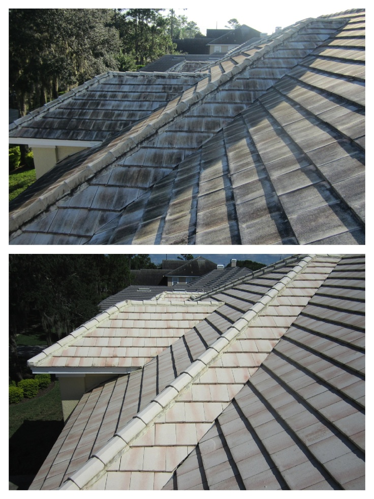 High Quality Tile Roof Cleaning In The Orlando Area. 407 656 0442  Www.orlandopressurecleaning