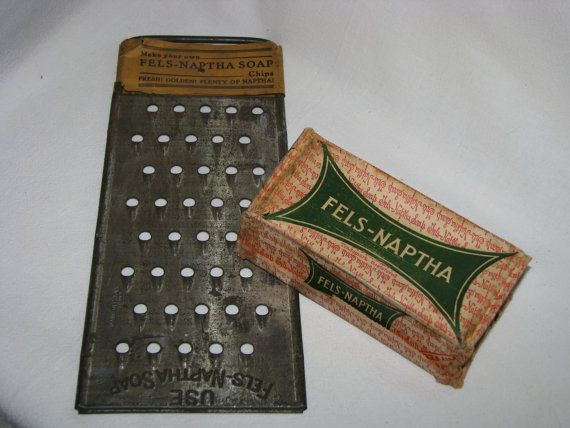 Vintage Fels Naptha Soap Grater. This grater is the original item sold for grating or shredding the Fels-Naptha Soap bar into a texture that