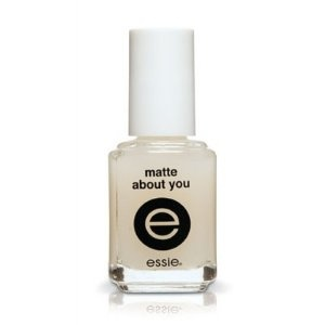 Essie Matte About You Matte Finisher    i use this with my metallic polishes to give it a brushed metal effect