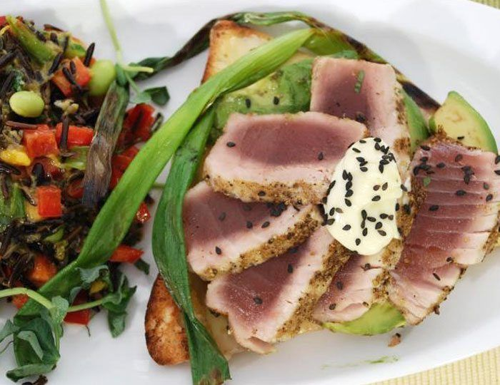Ahi Tuna Melt & Wild Rice Salad
