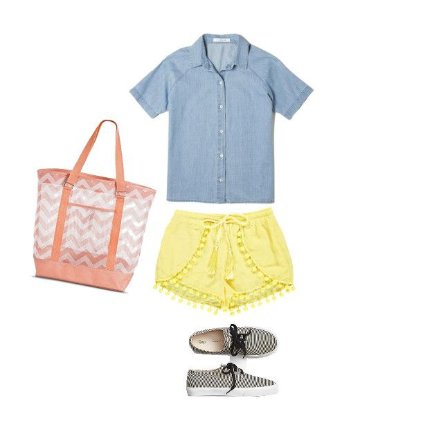 How to Style a Short-Sleeve Denim Shirt