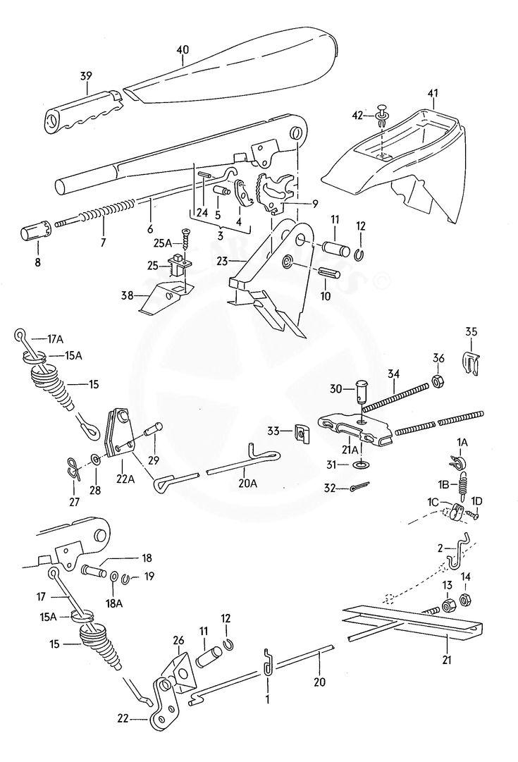 VOLKSWAGEN lt lt 4x4 lt 1984 71 brake lever pull rod