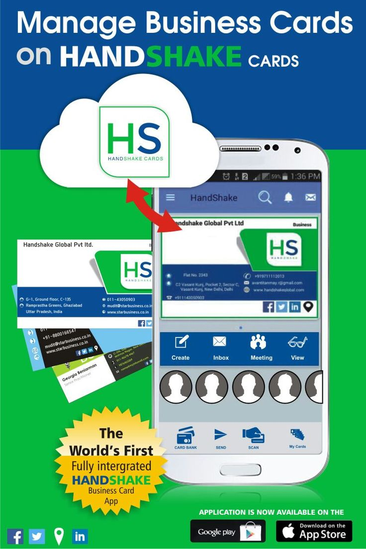 81 best handshake images on pinterest android business cards give dynamics to your professional identity prepare and share your smart digital business card magicingreecefo Image collections