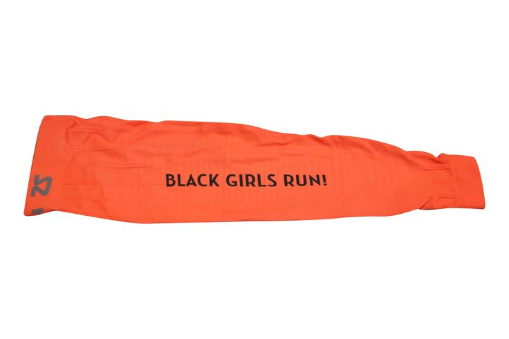 ****Pre-Sale*** Orange Black Girls RUN! Arm Compression Sleeves