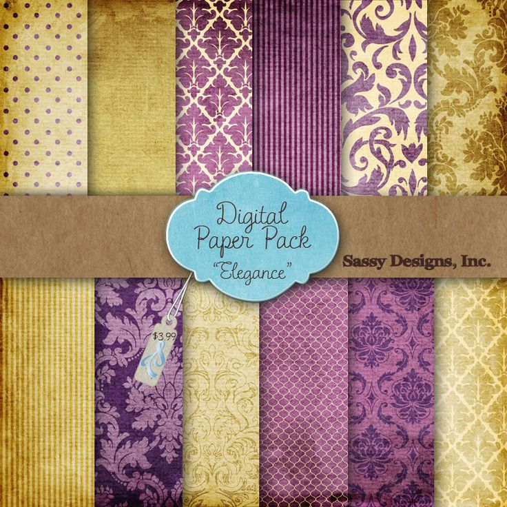 Purple And Gold Patterns   I Like The The Third Purple One On Top As The