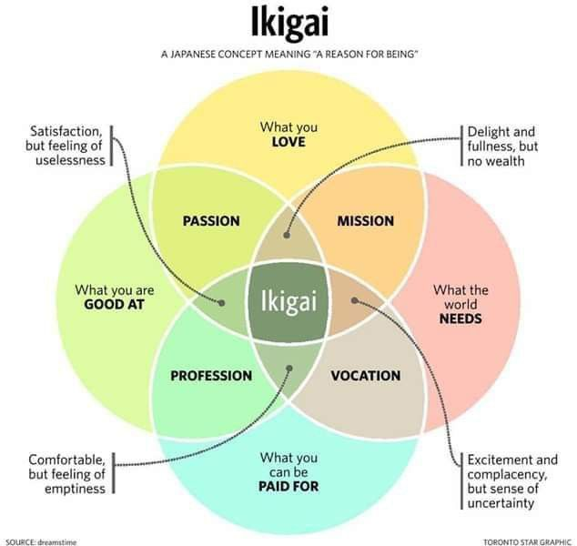 Japanese Life Circle Of Success Concept Meaning Meaningful Life