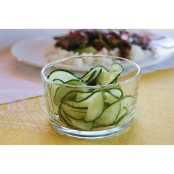 """Cucumber Sunomono I """"This was tasty and refreshing. It went great with our main dish, """"Japanese Beef Stir Fry,"""" recipe also from this site, and would also be wonderful with sushi."""""""