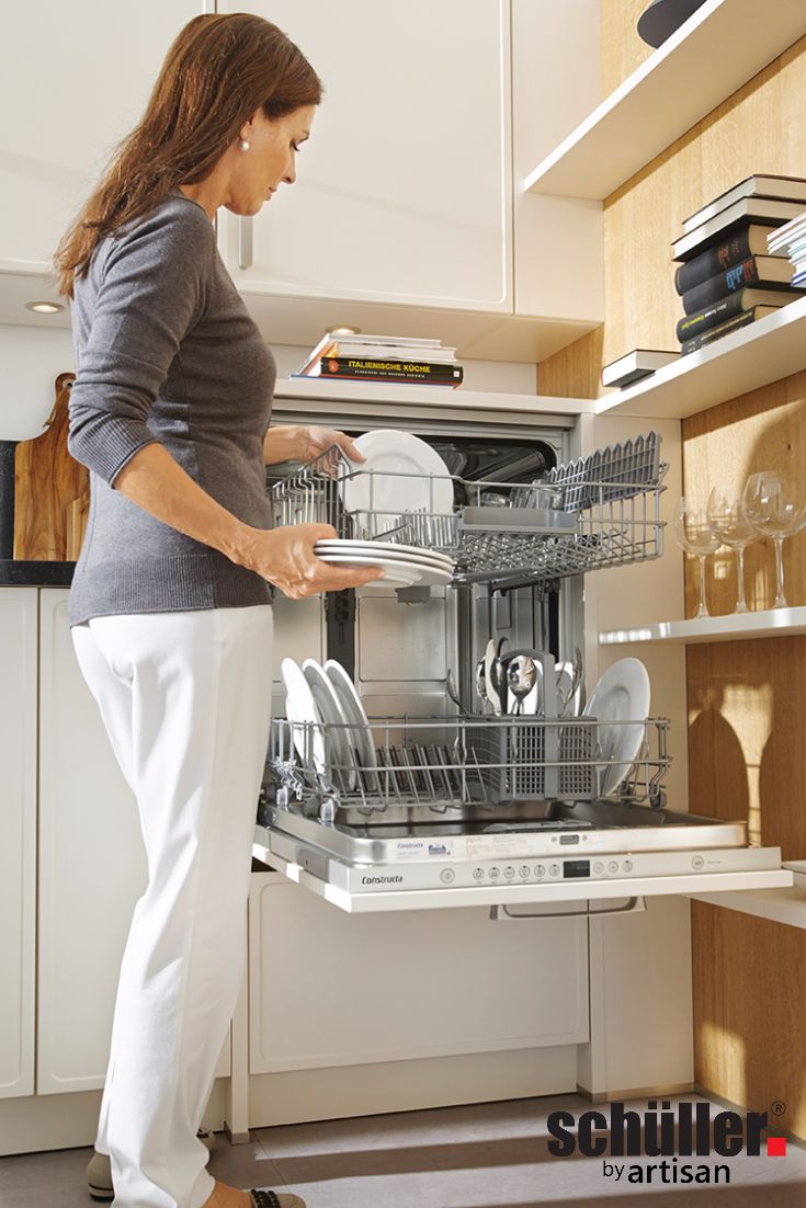 Clever-Kitchen-Ideas. Schuller's raised dishwasher – no more bending to load and…