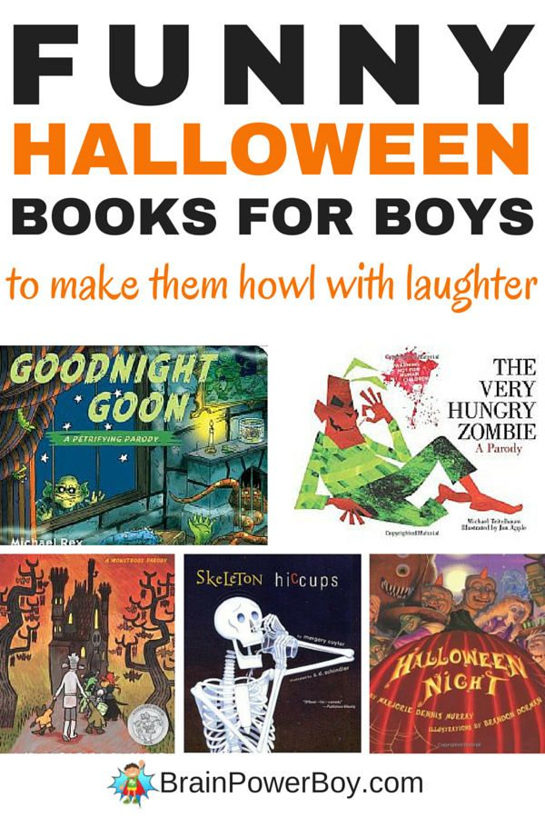 Need some books to make your boy howl with laughter this Halloween? This is the book list for you! 10 funny Halloween books for boys that are totally spooktacular!
