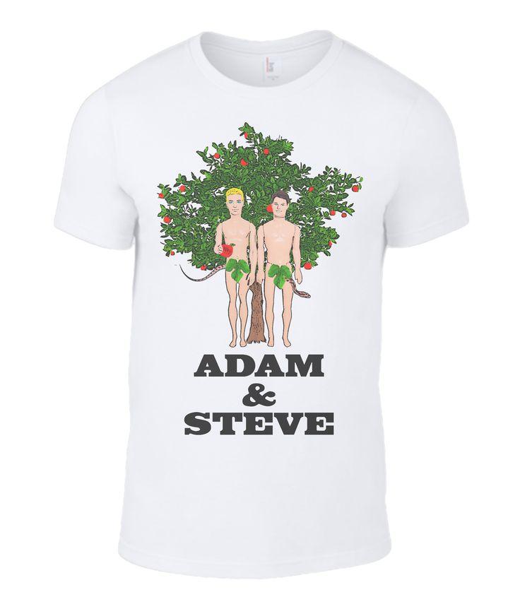 Adam & Steve Men's T-Shirt #lgbt #gayinterest #bible #humour at: www.plasticpam.com