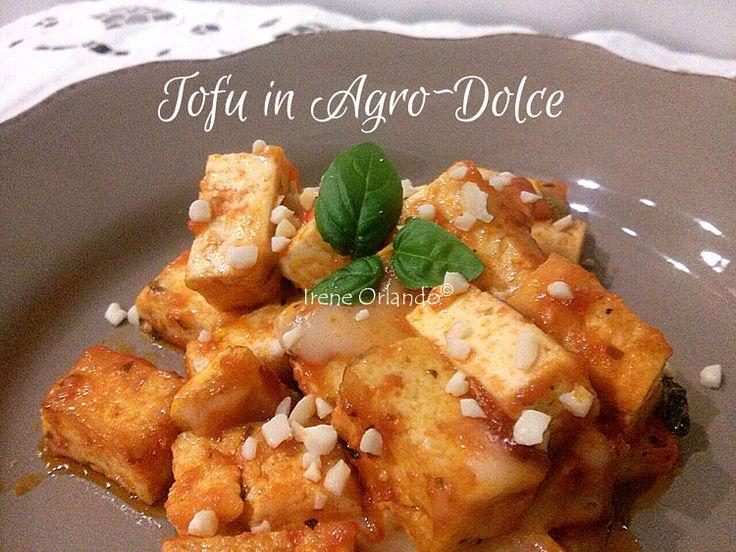 Ricetta del Tofu in AgroDolce con spolverata di farina di Mandorle