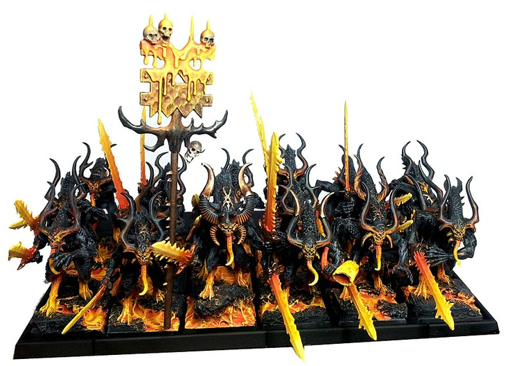 Painting Khorne Bloodletters Chaos Black